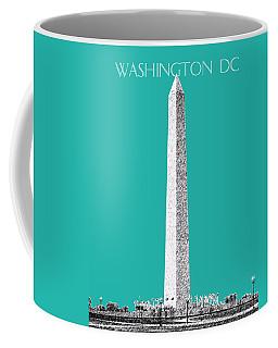 Washington Dc Skyline Washington Monument - Teal Coffee Mug