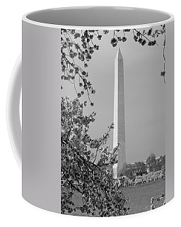 Coffee Mug featuring the photograph Washington Monument And Cherry Blossoms In April by Emmy Marie Vickers