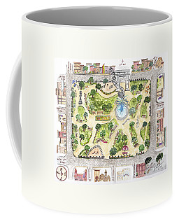 Washington Square Park Map Coffee Mug
