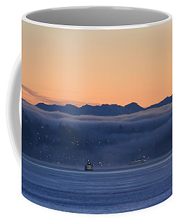 Washington State Ferries At Dawn Coffee Mug