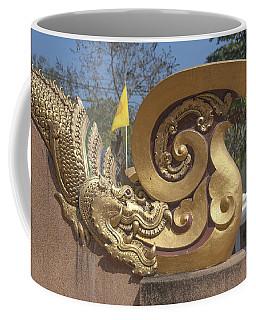 Wat Chedi Liem Phra Ubosot Makara And Stylized Naga Dthcm0838 Coffee Mug