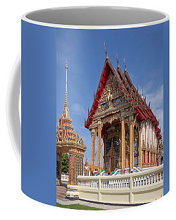 Coffee Mug featuring the photograph Wat Choeng Thalay Ordination Hall Dthp138 by Gerry Gantt