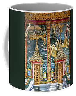 Coffee Mug featuring the photograph Wat Choeng Thale Ordination Hall Facade Dthp143 by Gerry Gantt
