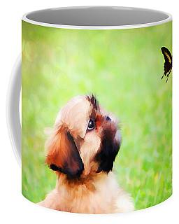 Watching Butterflies Coffee Mug by Darren Fisher