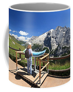 watching Marmolada mount Coffee Mug