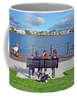 Coffee Mug featuring the photograph Watching The Bikes Go By At Congressman Leo Ryan's Memorial Park by Jim Fitzpatrick