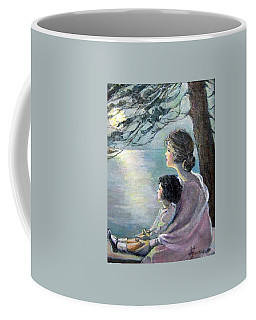 Watching The Moon Coffee Mug by Donna Tucker