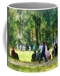 Watching The Soccer Game Coffee Mug