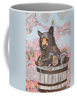 Coffee Mug featuring the painting Water Bear by Phyllis Kaltenbach