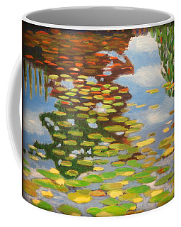 Water Lilies Coffee Mug by Karyn Robinson