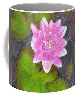 Coffee Mug featuring the painting Water Lily by Amelie Simmons