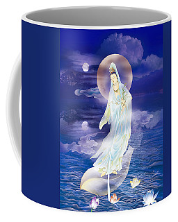 Water Moon Avalokitesvara  Coffee Mug by Lanjee Chee