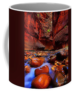 Coffee Mug featuring the painting Water Runs Through It by Catherine Lott
