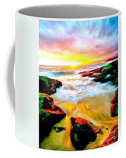 Coffee Mug featuring the painting Water Runs To It by Catherine Lott
