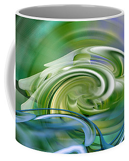 Water Sports - Abstract Art Coffee Mug by rd Erickson