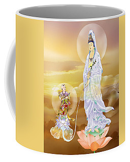 Coffee Mug featuring the photograph Water-sprinkling Kuan Yin by Lanjee Chee