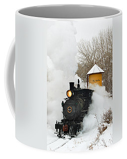 Water Tower Behind The Steam Coffee Mug
