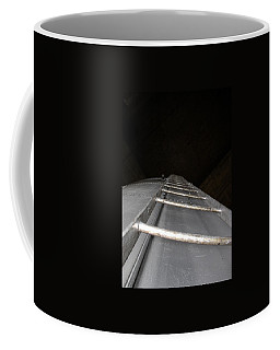 Coffee Mug featuring the photograph Water Tower Ladder by Cleaster Cotton
