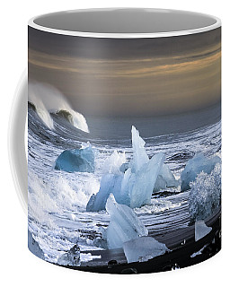 Coffee Mug featuring the photograph Water Versus Ice by Gunnar Orn Arnason