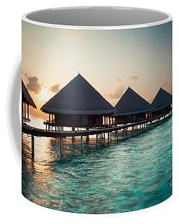 Waterbungalows At Sunset Coffee Mug