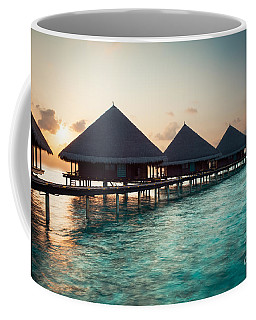 Waterbungalows At Sunset Coffee Mug