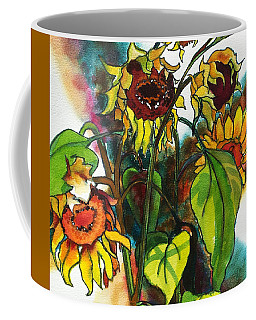 Sunflowers On The Rise Coffee Mug