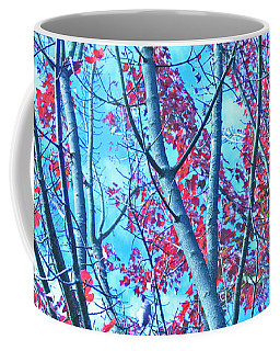 Coffee Mug featuring the photograph Watercolor Autumn Trees by Tikvah's Hope