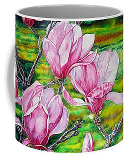 Watercolor Exercise Magnolias Coffee Mug