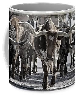 Watercolor Longhorns Coffee Mug by Joan Carroll