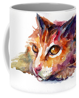 Watercolor Orange Tubby Cat Coffee Mug by Svetlana Novikova