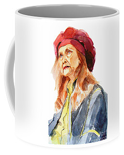Watercolor Portrait Of An Old Lady Coffee Mug