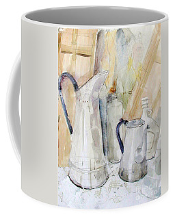 Watercolor Still Life Of White Cans Coffee Mug