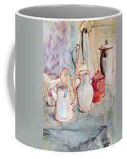 Watercolor Still Life With Red Can Coffee Mug