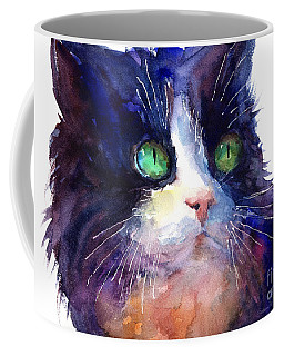 Watercolor Tuxedo Tubby Cat Coffee Mug by Svetlana Novikova