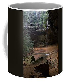 Waterfall At Ash Cave Coffee Mug by Dale Kincaid