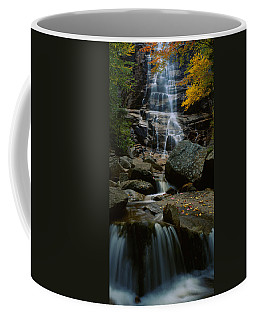 Waterfall In A Forest, Arethusa Falls Coffee Mug