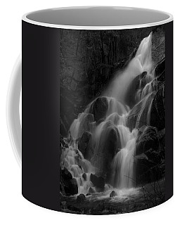 Waterfall In Black And White Coffee Mug