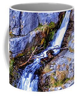 Coffee Mug featuring the photograph Waterfall-mt Timpanogos by David Millenheft