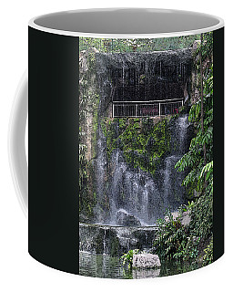 Coffee Mug featuring the painting Waterfall by Sergey Lukashin