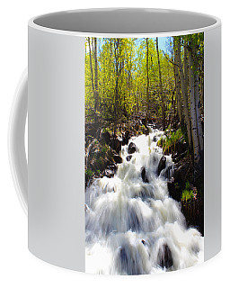 Waterfall Through The Aspens Coffee Mug