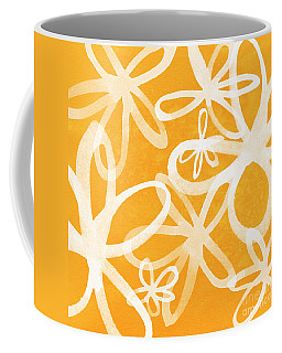 Waterflowers- Orange And White Coffee Mug