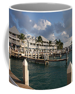 Coffee Mug featuring the photograph Waterfront Key West by Christiane Schulze Art And Photography