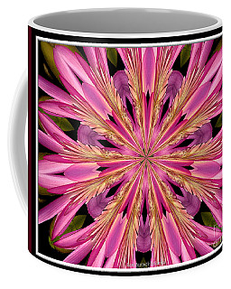 Coffee Mug featuring the photograph Waterlily Flower Kaleidoscope 4 by Rose Santuci-Sofranko
