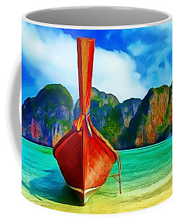 Coffee Mug featuring the painting Watermarked-a Dreamy Version Collection by Catherine Lott