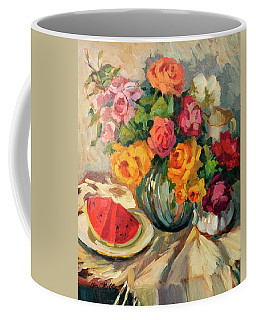 Watermelon And Roses Coffee Mug