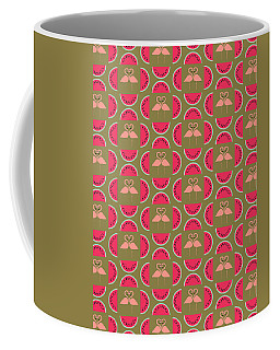 Watermelon Flamingo Print Coffee Mug