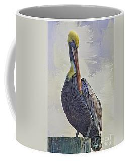 Waterway Pelican Coffee Mug by Deborah Benoit