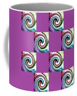 Coffee Mug featuring the digital art Wave Of Purple 2 by Ann Calvo