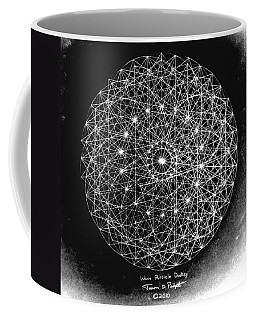 Coffee Mug featuring the drawing Wave Particle Duality Black White by Jason Padgett