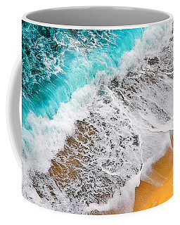 Waves Abstract Coffee Mug by Silvia Ganora